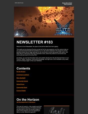 Elite Dangerous Newsletter #183