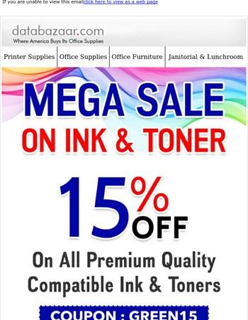 Mega Sale On Ink & Toner
