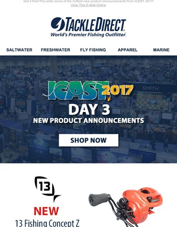 ICAST 2017 Day 3: 13 Fishing Concept Z, St. Croix Legend X and More