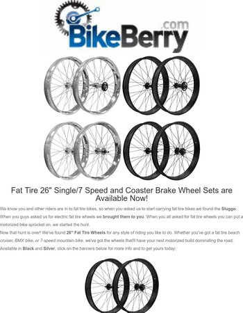 Build Your Next Bike With These New Wheels...