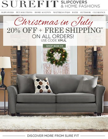 Christmans In July! 20% & Free Shipping On ALL Orders