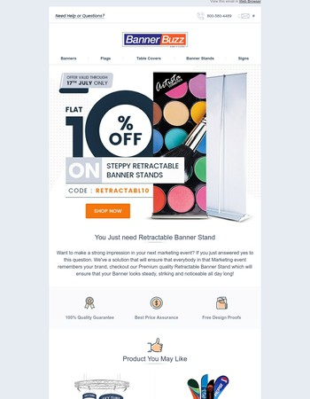 Step & Repeat to Get Flat 10% Off