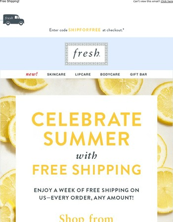 Don't miss out on free shipping week!