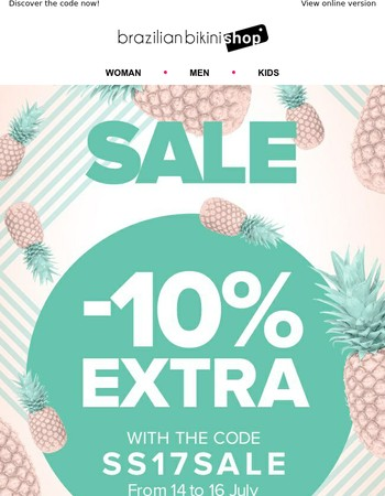 10% extra discount on SALES products