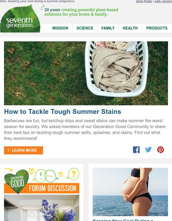 Best recommendations on tackling summer stains.