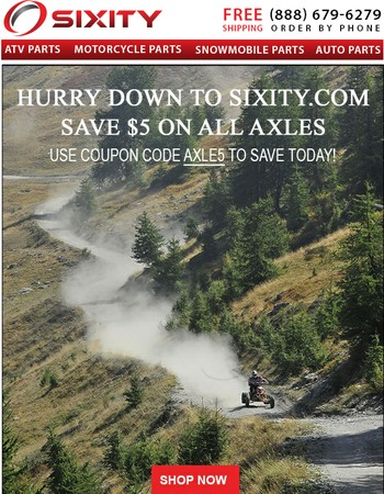 Save on all Axles now