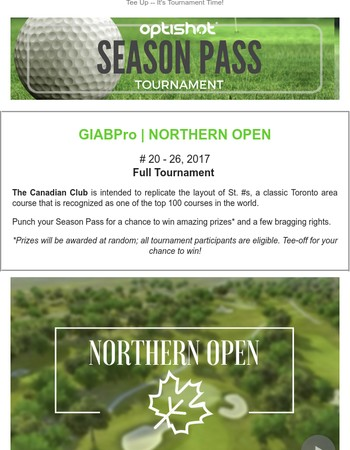 Grab Your Pass to the Northern Open. ⛳