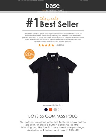 #1 Best Seller This Week | Stone Island SS Compass Polo