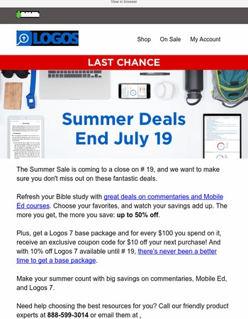 Last chance to get up to 50% off in the Summer Sale