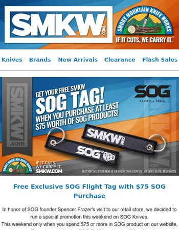 You've been tagged, SOG style!