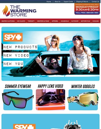 Change How You View The Summer! Spy Optic Lenses Available Now!