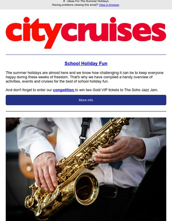 Celebrate the Summer Holidays With City Cruises