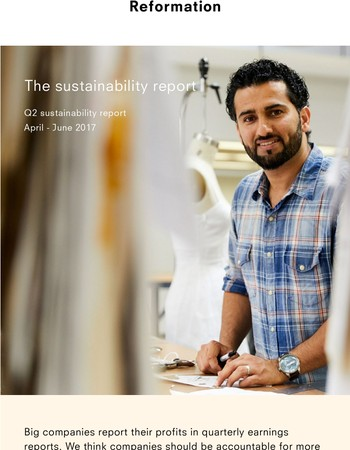 THE SUSTAINABILITY REPORT: Q2