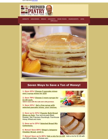 If you like pancakes or bread, don't miss this sale with savings to 78%!