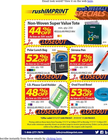 Whoa! Save up to 61% On Promos This Week