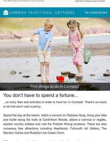 Want to enjoy Cornwall for free?