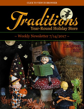 Traditions - New Halloween decor! Special coupon inside ~