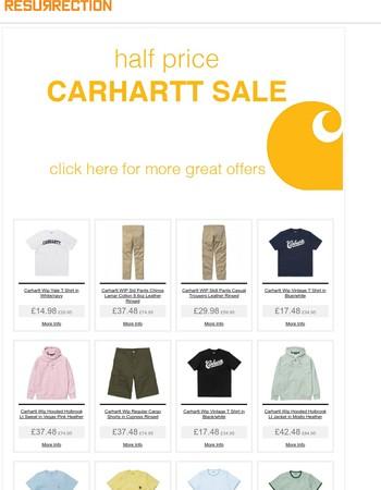 Half Price Sale on all Carhartt Summer Stock