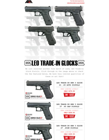 WOLF Ammo SALE, New Batch of Cheap LEO Trade-In Handguns and more Guns, Ammo, Parts and Mags at AIM Surplus