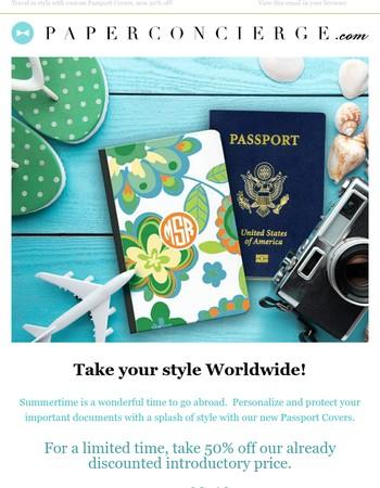 50% off Custom Passport Covers