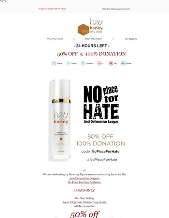 50% OFF 100% DONATION | NO PLACE FOR HATE! 2