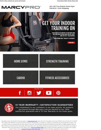 Two Stations. One Home Gym. 20% off + Free Shipping