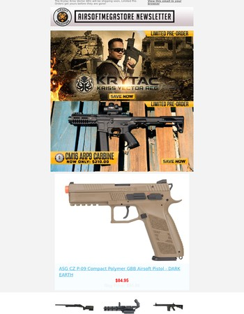 Pre Order the new Krytac Kriss Vector we have limited Pre-orders