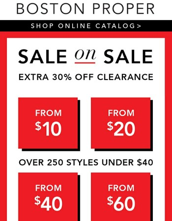 Styles from $19.98 PLUS 30% Off Today!