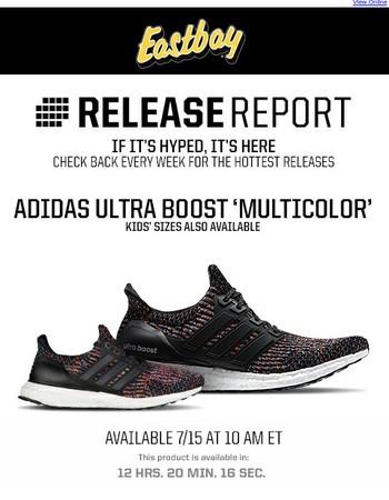 Release Report: The adidas Ultra Boost 'Multicolor' Drops Tomorrow!
