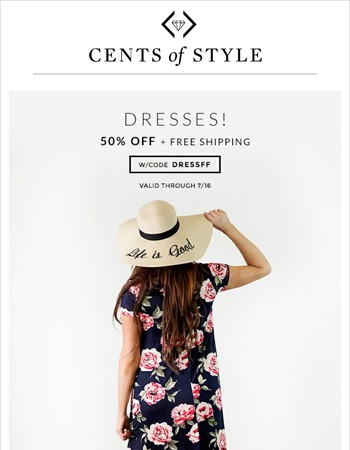 Hurry! 50% off Dresses are Going Fast!