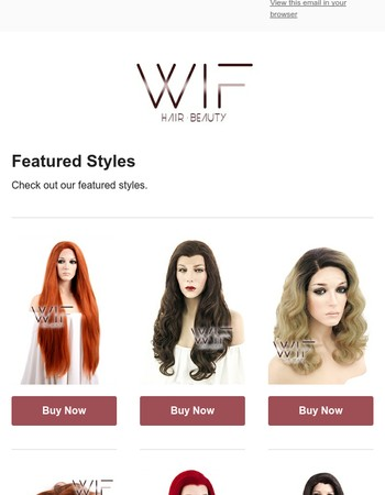 WigIsFashion - Featured Styles