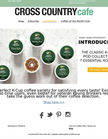 7 classic K-Cup®  pods essential for a comple collection