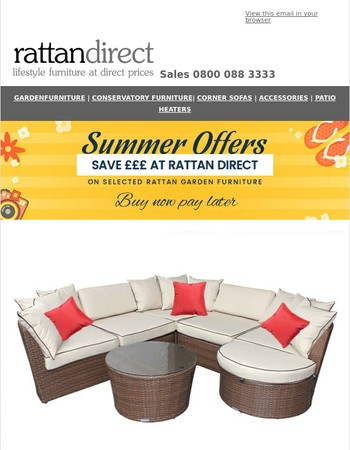 ☀ Summer Outdoor Furniture Offers from Rattan Direct ☀