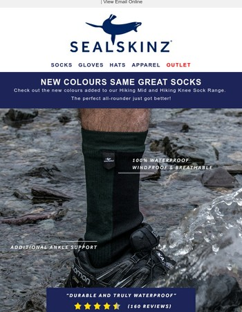 Best Selling Sealskinz Socks in New Colours - Available Now!