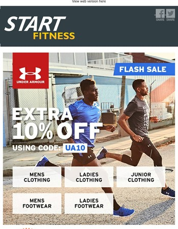 Flash Sale - Extra 10% Off Discount Code For Under Armour