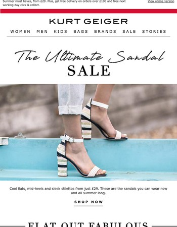 The Ultimate Sandal Sale