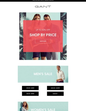 SALE - Shop by Price | More Lines Now 50% Off