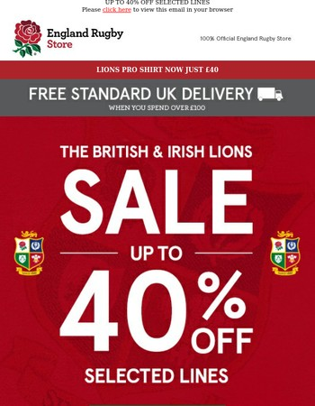 LIONS SALE NOW ON!