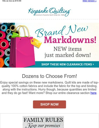 Fresh Markdowns Just Made!  Get them before they're gone.