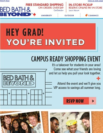 YOU'RE INVITED! Attend and get campus ready.