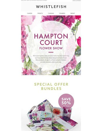 Fabulous Floral Savings of with our RHS Bundles!