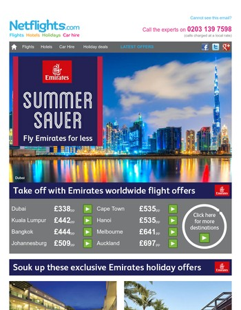 Book a summer saver with Emirates today!