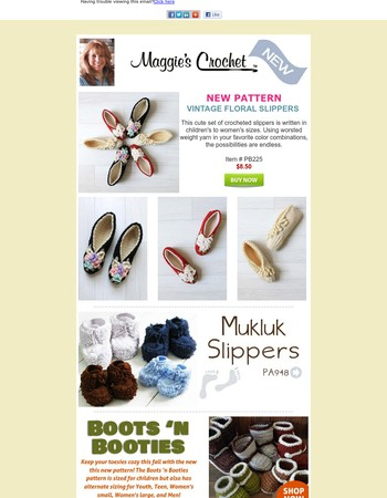 NEW Vintage Floral Slippers + FREE Pattern