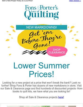 New Markdowns - These Deals Are Going Fast!