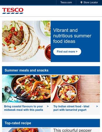 Summer meals under 500 calories per serving