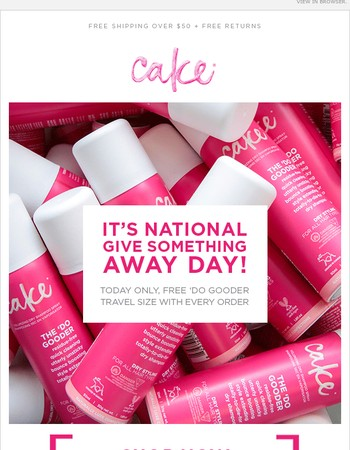 ⚡ Today Only⚡  Free Cake for National Give Something Away Day