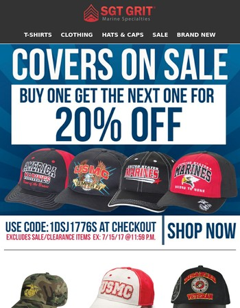 Covers! We Have Lots of Them!  Buy one get one for 20% off