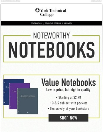 Noteworthy Notebooks to Add to Your Order
