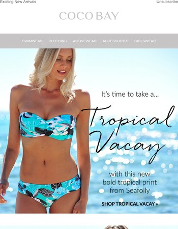 Just Landed: Tropical Print Swim by Seafolly