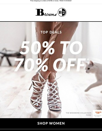 BEST of SALE :: 50-70% OFF, Steals < $100, and MORE!